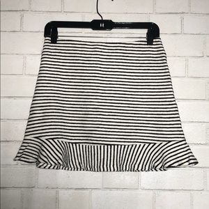 Striped Terry Cloth Skirt